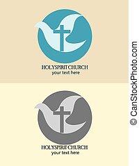 logotipo,  holyspirit, igreja