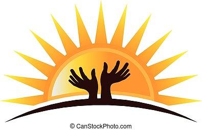 logotipo, hopefulyl, manos