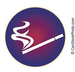 logotipo, humo, cigarrillo