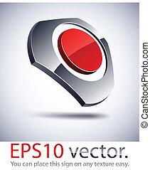logotipo, icon., armonia, 3d