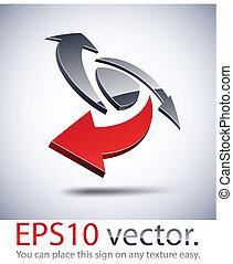 logotipo, icon., moderno, 3d