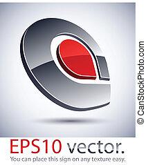 """logotipo, icon., moderno, """"a"""", 3d"""