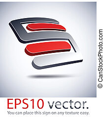 """logotipo, icon., moderno, """"s"""", 3d"""