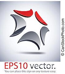 logotipo, icon., tecnología moderna, 3d