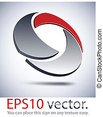 logotipo, icon., tecnologia moderna, 3d