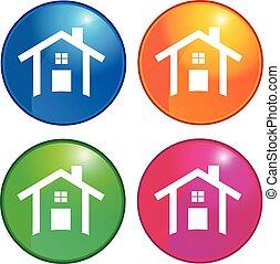 logotipo, icone, case