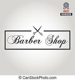 logotipo, icono, o, logotype, para, barbería