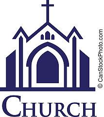 logotipo, igreja