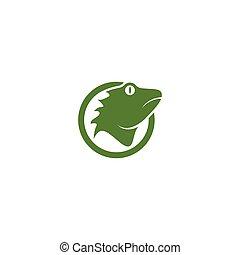 logotipo, iguana