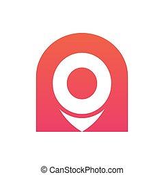 logotipo, ilustração, alfinete, abstratos, vetorial, mapa, ícone, desenho