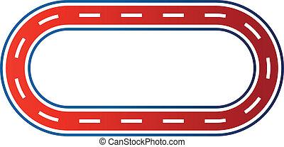 logotipo, imagem, raça, circuito, elíptico