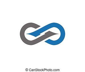logotipo, infinità, sagoma
