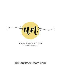 logotipo, inicial, desenho, letra, onu