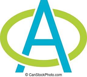 logotipo, iniziale, logotype, lettera