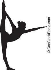 logotipo, ioga