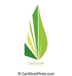 logotipo, isolado, natureza