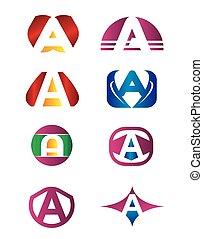 logotipo, jogo, letra