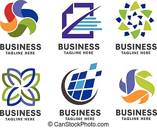 logotipo, jogo, negócio