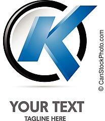 logotipo, k, carta