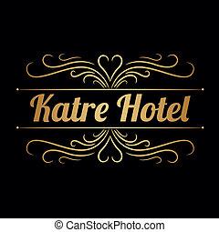 logotipo, katre, hotel