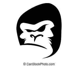 logotipo, kong, rey