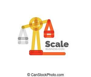 logotipo, línea, escala, diseño, mínimo