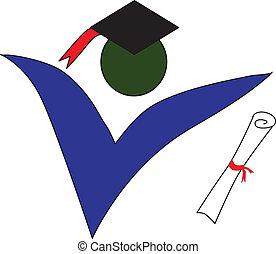 logotipo, laureato