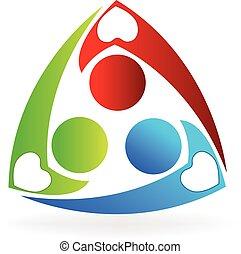 logotipo, lavoro squadra, carità