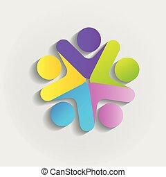 logotipo, lavoro squadra, persone affari