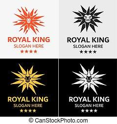 logotipo, leone, stella, sagoma