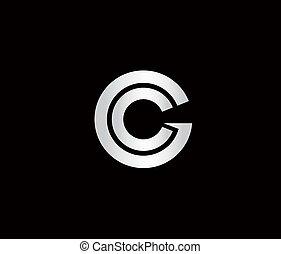 logotipo, letra c, g