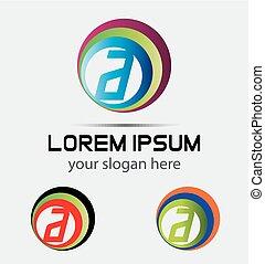 logotipo, letra, elemento