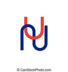 logotipo, letras, simples, linha, onu, geomã©´ricas, ...