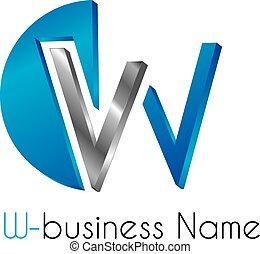 logotipo, lettera, w