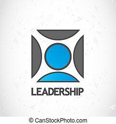 logotipo, liderança, desenho