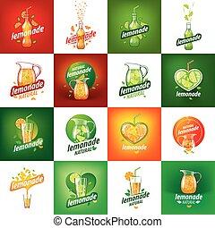 logotipo, limonada