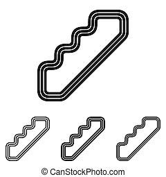 logotipo, linea, progetto serie, scala