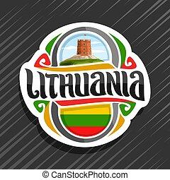 logotipo, lituania, vector