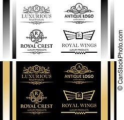 logotipo, lujoso