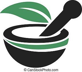 logotipo, médico, farmácia, design.