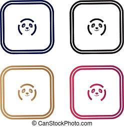 logotipo, macchina fotografica, panda
