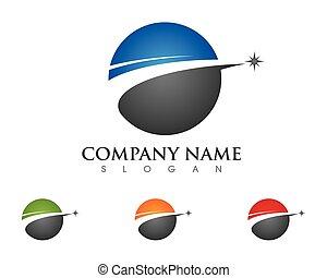 logotipo, mais rápido, modelo