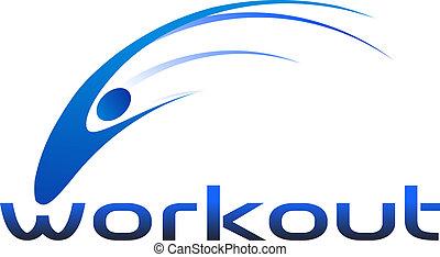 logotipo, malhação, swoosh