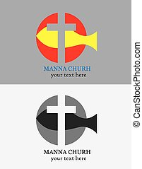 logotipo,  manna, igreja