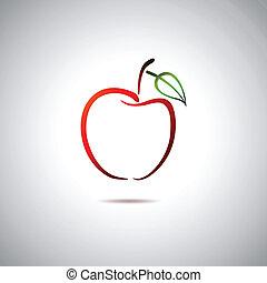 logotipo, manzana