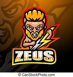 logotipo, mascota, zeus, esport, diseño