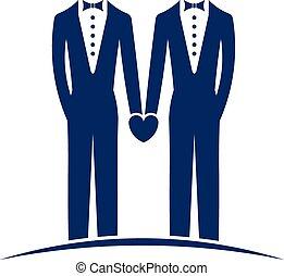 logotipo, matrimonio, mismo, sexo
