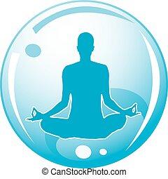 logotipo, meditación