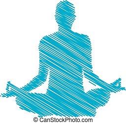 logotipo, meditazione
