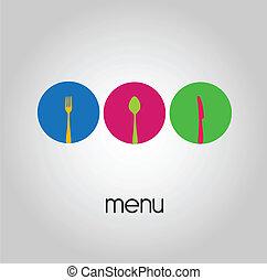 logotipo, -, menú